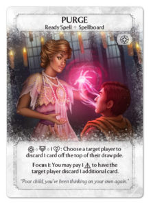 Purge - The Poster Card for Mill decks.